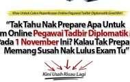 Semua Tentang +Pegawai Tadbir Diplomatik Gred M41Yang Calon Exam PTD Perlu Baca