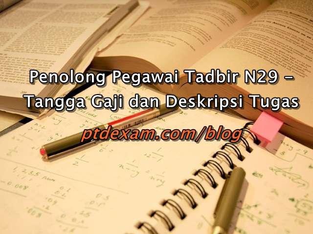 Penolong Pegawai Tadbir N29 - Tangga Gaji dan Deskripsi Tugas